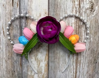 Easter twisted pearl mouse ears