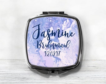 Bridesmaid Compact Mirror - Personalized Bridesmaid Gift - Purse Mirror
