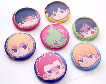 Mob Psycho 100 Buttons