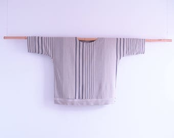 Black and grey stripes flax camica