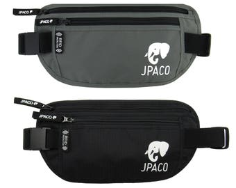 2 Pack - RFID Money Belts and *BONUS: 14 RFID Sleeves* (10 Credit Card Sleeves & 4 Passport Sleeves)