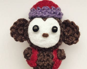 Abu the Monkey from Alladin, monkey, crocheted figurine, Amigurumi, presentidea, kawaii, Disney, Walt Disney, movie character, animals