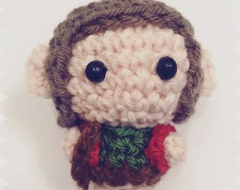 Bilbo Baggins, Amigurumi, the hobbit, crocheted figurine, tolkin, booklover, kawaii, cute, kawaii, character