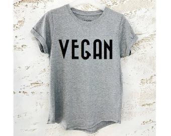 Vegan Shirt, Vegan T-Shirt, Vegan Clothing, Gift for Vegan, Vegan Gift, Womens Shirt, Womens T-Shirt, Gray Shirt