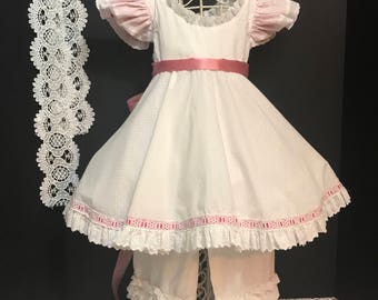 Vintage Pinafore Dress and Bloomers