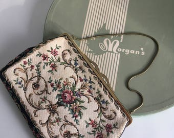 Morgan's Vintage Tapestry Evening bag