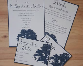 Invitation, RSVP and Save the Date, Contemporary Wedding Stationery