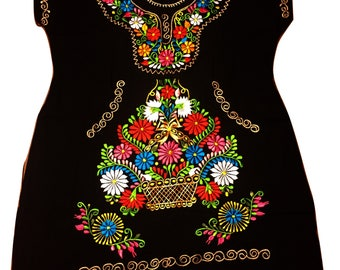 Mexican embroidered dress 08