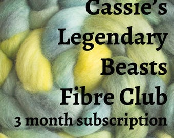 Legendary Beasts Fibre Club - 3 month subscription - british sheep breeds hand dyed wool tops