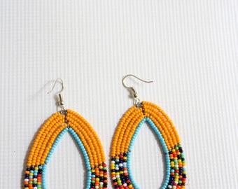 Maasai earrings, African earrings, Bead earrings, Kenyan earrings, Maasai, handmade earrings