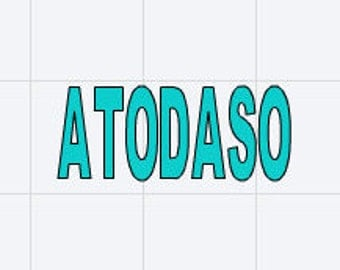 Trailer Park Boys ATODASO Vinyl Bumper Sticker