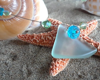 Beachglass Necklace,Seaglass Jewelry,Beach Decor,Coastal,Womens,Wedding,Valentines Day, Recycled,Vintage,Girls,Bride,Bridesmaid,Mothers Day