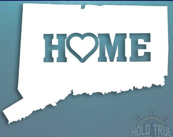 Connecticut Decal - PICK COLOR and SIZE - Connecticut Home Decal - Connecticut Car Decal - Connecticut sticker - Connecticut car sticker