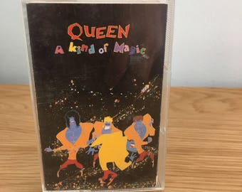Vintage Queen A Kind Of Magic Album Cassette Tape