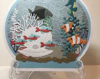 Fishbowl card, fish tank card for any occasion