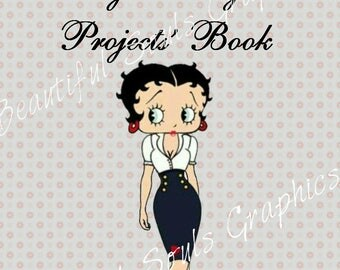 Betty Boop Sewing planner, Sewing Projects' Book, Printable sewing planner, A4 planners, DIY, gift