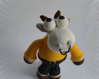 Crochet toy bull plush big stuffed animal knit cow business toy knit farm animal bull nursery decor knit decoration best git for child