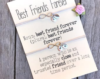 Best friend bracelet, Friendship bracelet, Gift for friends, Friendship gifts, Friendship jewelry, Infinity bracelet, Bff gifts, A78