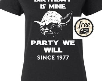Star Wars Birthday Shirt, May The 40th Be With You Star Wars t-shirt, great for 40th birthday, makes a great gift for any Star Wars fan! Y11