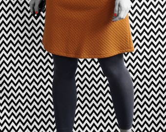 SKIRT / / ROCK / / A line / / orange / / organic organic fair trade