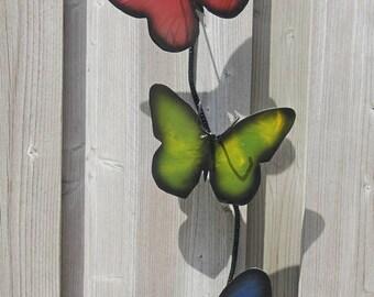 Rainbow butterflies. Metal Art