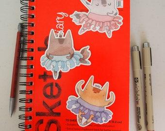 Ballerina Princess Animals Sticker Pack
