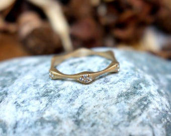 FULL ETERNITY Diamond ring Gold wedding band Diamond Wedding Ring Stackable stacking ring Promise Solid Anniversary ring engagement ring