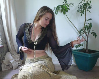 Vintage Boho Gypsy Tribal Belly Dance Festival Maxi Long Skirt, Really, she is king and queen and everything in between.