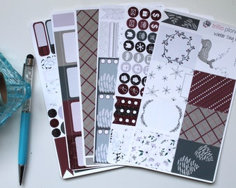 Winter Day - Erin Condren Vertical Weekly Kit