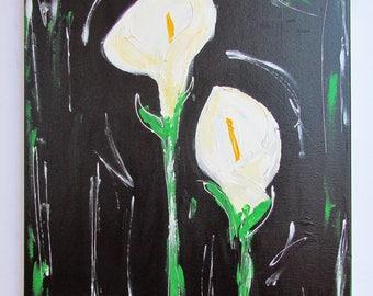 Abstract Calla Lillies