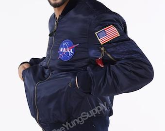 NASA MA-1 Bomber Jacket Lightweight | Pilot Flight Jacket Alpha Inspired Air Force