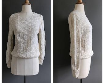 Vintage cotton crochet sweater