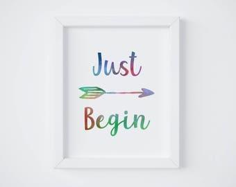 Arrow Wall Decor, Calligraphy Print, Motivational Art Print, Motivational Poster, Inspirational Quote Decor, Instant Download Printable Art