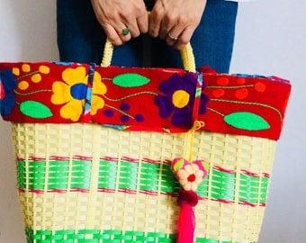Picnic Bag |Floral Bag | Bags for Woman | Weekend Bag | Shoulder Bag | Beach Bag | Bag pattern | Tote Bag | Picnic Basket |Holiday Tote Bag