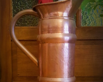 Antique French Pitcher Copper