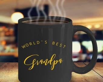 Worlds Best Grandpa Mug, Grandpa Mug, pregnancy reveal, christmas gift, mug for dad, gift for Grandpa, Grandfather gift, Grandpa Cofee mug