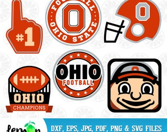 Football Ohio State SVG, Ohio Champions, Ohio State SVG, Buckeyes Monogram, Ohio State Buckeyes SVG, University,  Instant Download, 69