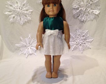 18 inch doll Christmas Party dress