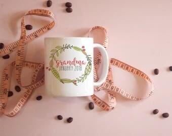 Grandma Mug 2018, Grandma to be Mug, Pregnancy Reveal Mug, Grandma Mug, pregnancy announcement grandma, pregnancy reveal to grandma