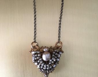 VIntage Miriam Haskell Repurposed Necklace