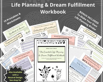 Essential Goal Setting Workbook for Making Important Life Changes, Personal Growth, Growth Mindset, Goal Planner, Productivity, Goal Setting