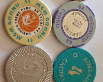 Collection of CASINO chips