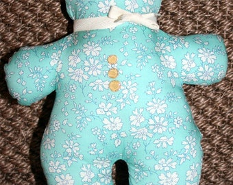 Doudou mini Teddy bear! comes in fabric Liberty of London! Limited Edition!