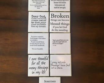 Set of 6 Spiritual Themed Coasters