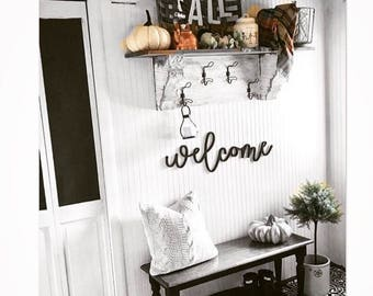 Welcome Wall Decor Word Wood Cut Out Art Decor