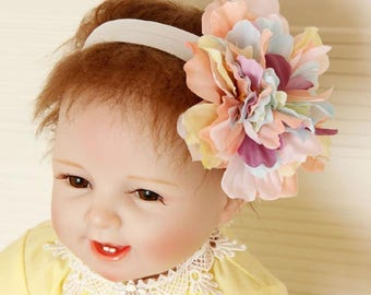 Colorful Big Flowers Hairbands Baby Girl Hair Accessories