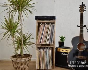 Vinyl vintage wooden cabinet