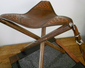 Portable leather stool