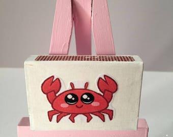 Crab Matchbox art, 3-D miniature greeting card, crab kawaii, Love card, funny