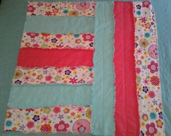 Flower Power Flannel Rag Quilt